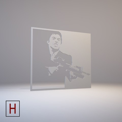 3D printer models Stencil - Scarface, HorizonLab