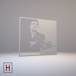 3d printer designs Stencil - Scarface, HorizonLab
