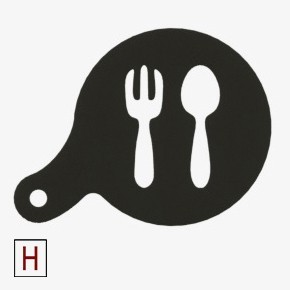 Cults - Chocolate - Coffee stencil - Fork and spoon.jpg Download STL file Chocolate-Coffee stencils Classic collection • 3D printing model, InSpace