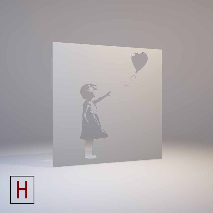 Cults - Banksy - stencil - Girl with a balloon logo.jpg Download STL file Banksy - stencil - Girl with a balloon • 3D printer design, Made_In_Space