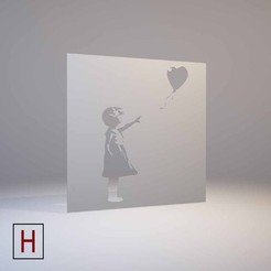 Download 3D print files Banksy - stencil - Girl with a balloon, HorizonLab