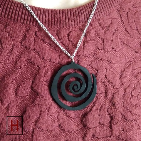 Necklace – Spiral 3D model, HorizonLab