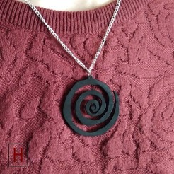 Free 3d print files Necklace – Spiral, HorizonLab