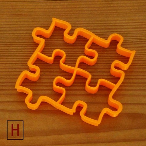 3D print files Cookies cutter - Puzzles, HorizonLab