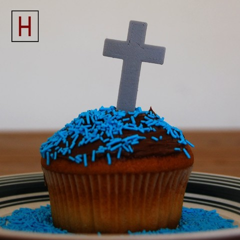 Cults - Topper - Cross - logo.jpg Download STL file Night of the living muffins • 3D printing object, InSpace