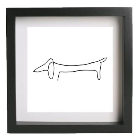 Download free 3D printer designs Wall art - Picasso - Dog, HorizonLab
