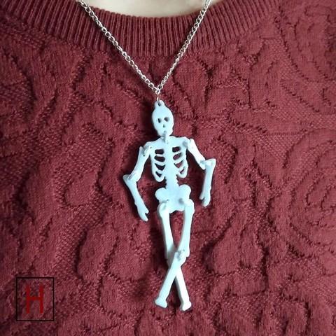 Necklace - Skeleton 3D printer file, HorizonLab