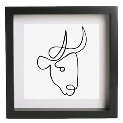 Download free 3D printing files Wall art - Picasso - Bull, HorizonLab