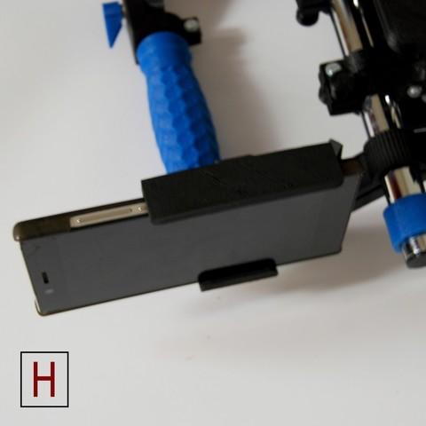 Free 3D file Smartphone holder for a shoulder rig, HorizonLab