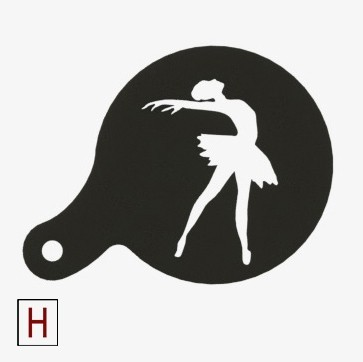 Cults - Chocolate - Coffee stencil - No holder - Ballerina.jpg Download STL file Chocolate-Coffee stencils Classic collection • 3D printing model, InSpace