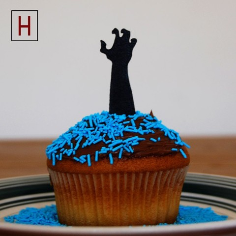 Cults - Topper - Zombie Hand 1 logo.jpg Download STL file Night of the living muffins • 3D printing object, InSpace