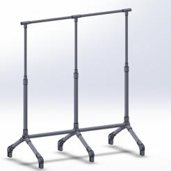Download free 3D printer designs Garment Stand Hanger, G_Pandu