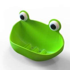 Descargar modelo 3D gratis Porta jabón de rana, G_Pandu