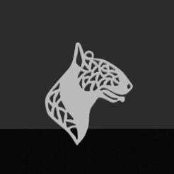 Bull-terrier.png Télécharger fichier STL Pendentif Bull-terrier • Design imprimable en 3D, JordanHogetoorn