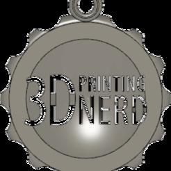 Télécharger plan imprimante 3D gatuit Impression 3D Porte-clés Nerd maker-coin, JordanHogetoorn