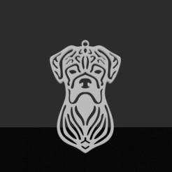 Boxer.png Télécharger fichier STL Pendentif de boxer • Design imprimable en 3D, JordanHogetoorn