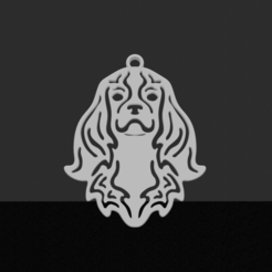 Cavalier king Charles.png Download STL file Cavalier king Charles pendant • 3D print model, JordanHogetoorn