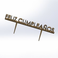 feliz.JPG Download free STL file Happy Birthday • Design to 3D print, jru
