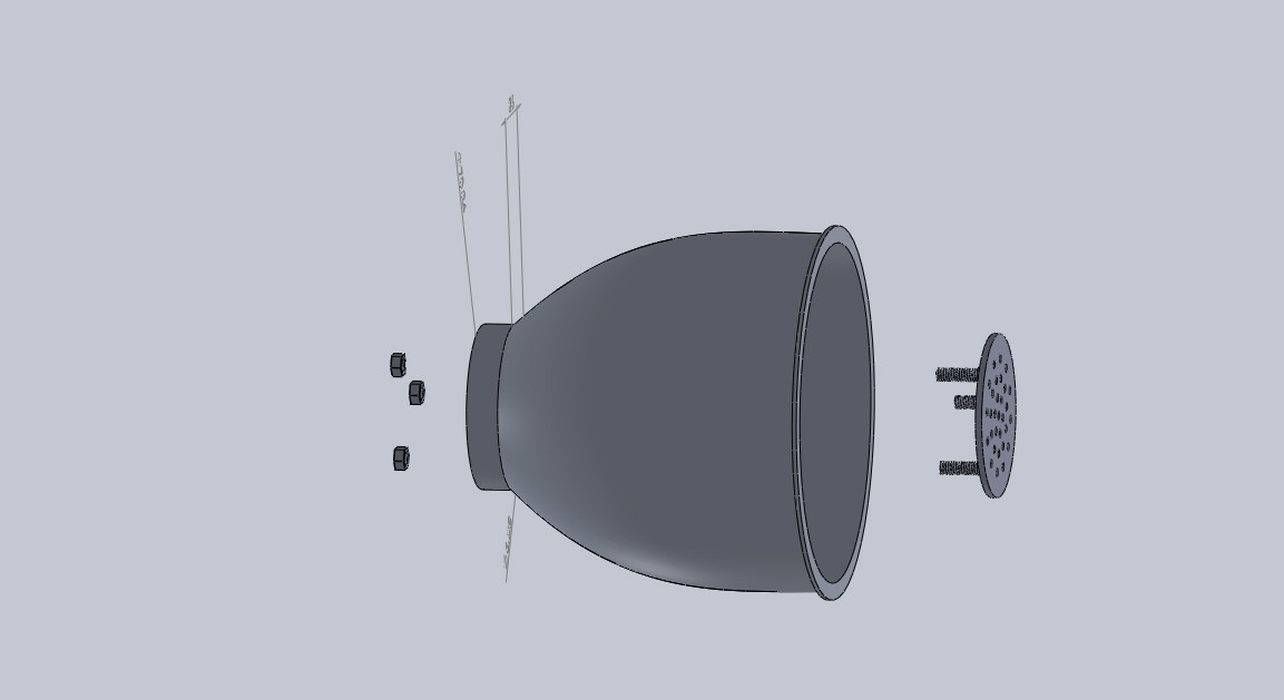 Ensamblaje faro2.JPG Download free STL file headlamp for 4mm LED lights • 3D printing object, jru