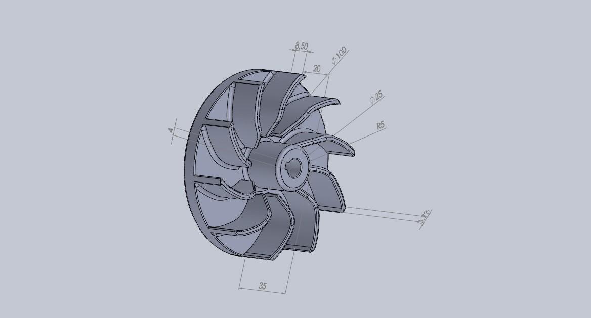 turbina ventiladora.JPG Download free STL file ventilating turbine • 3D printing model, jru