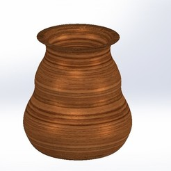 Download free 3D printer model Imitation wood vase, jru