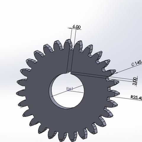 engranaje 27 dientes.JPG Download free STL file Gear 27 teeth • 3D print template, jru