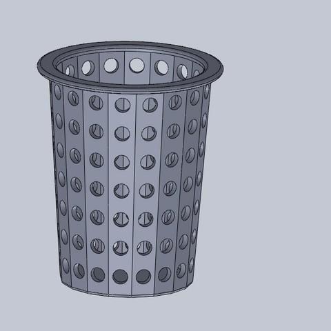 Free STL hydroponic basket, jru