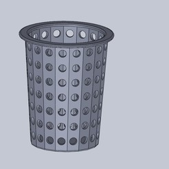 Download free STL files hydroponic basket, jru
