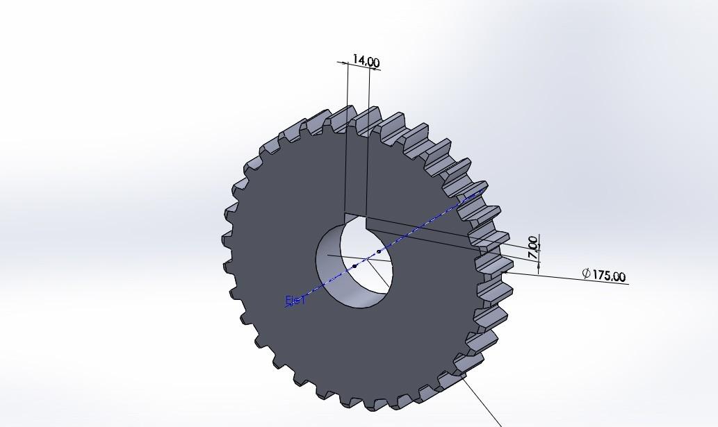 engranaje 33 dientes.JPG Download free STL file Gear 33 teeth • 3D printing design, jru