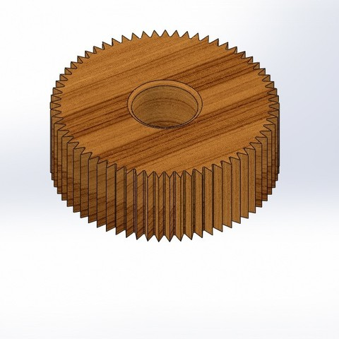 Download free 3D printer files imitation wood gear, jru