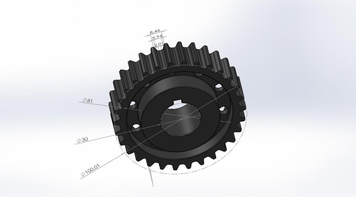 engranage.JPG Download free STL file gear 30 teeth (gear 30 teeth) • 3D print design, jru