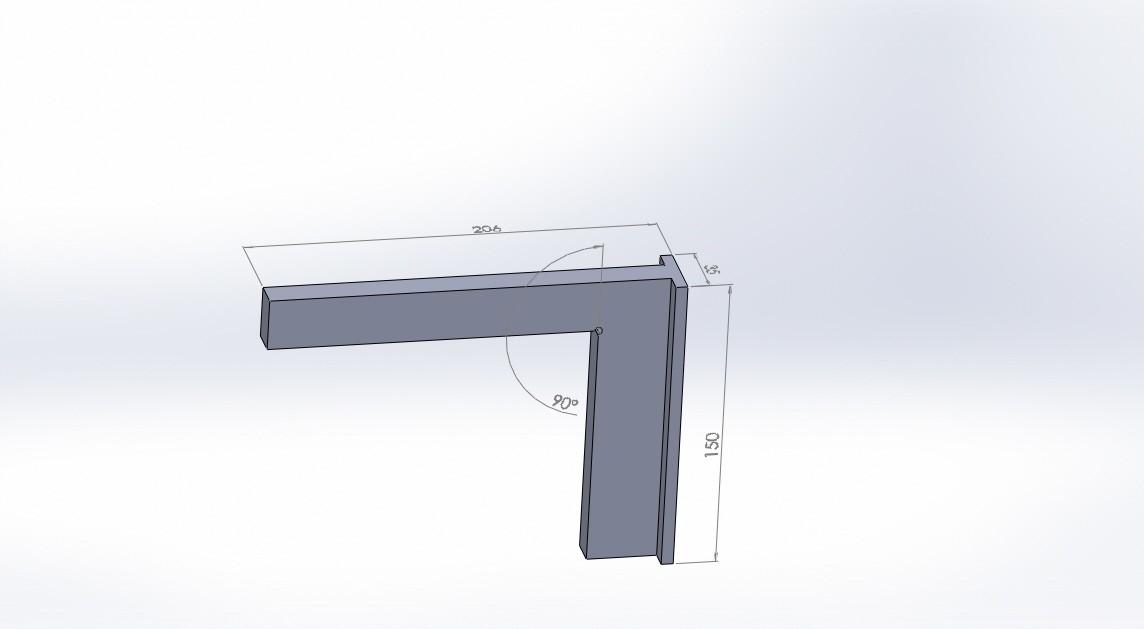 escuadra 90 grados.JPG Download free STL file square 90 degrees (90 degree square) • 3D print model, jru