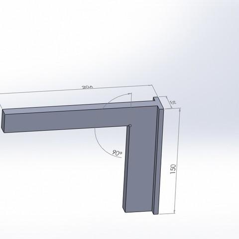 Download free 3D printing files square 90 degrees (90 degree square), jru