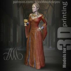 Cersei_Fase.jpg Download OBJ file Cersei Lannister (Game of Thrones) • 3D printer design, Mendeleyev