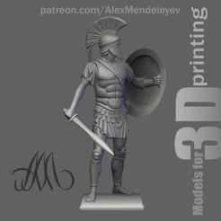 Greek_Face.jpg Download STL file Greek Hoplite • 3D printer template, Mendeleyev