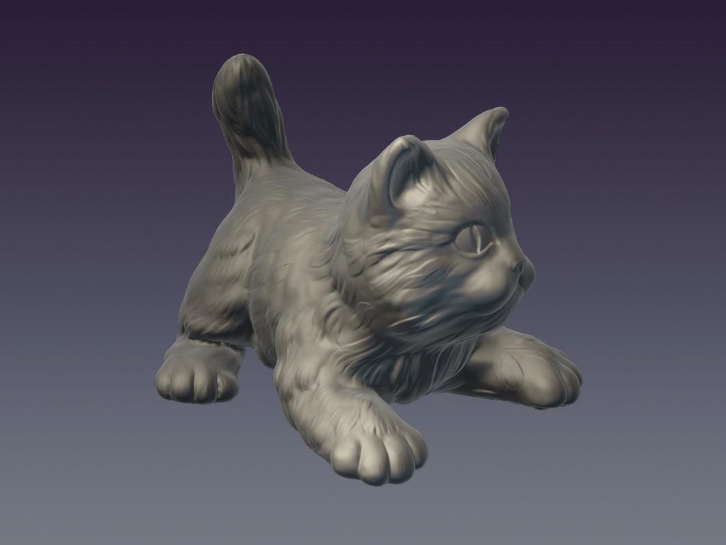 Cat_02.jpg Download OBJ file Decorative cat 3D print model • 3D print object, Mendeleyev