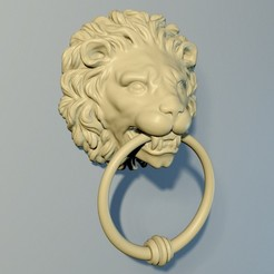 Download 3D printing models Lion Door knob, Oldtinsold
