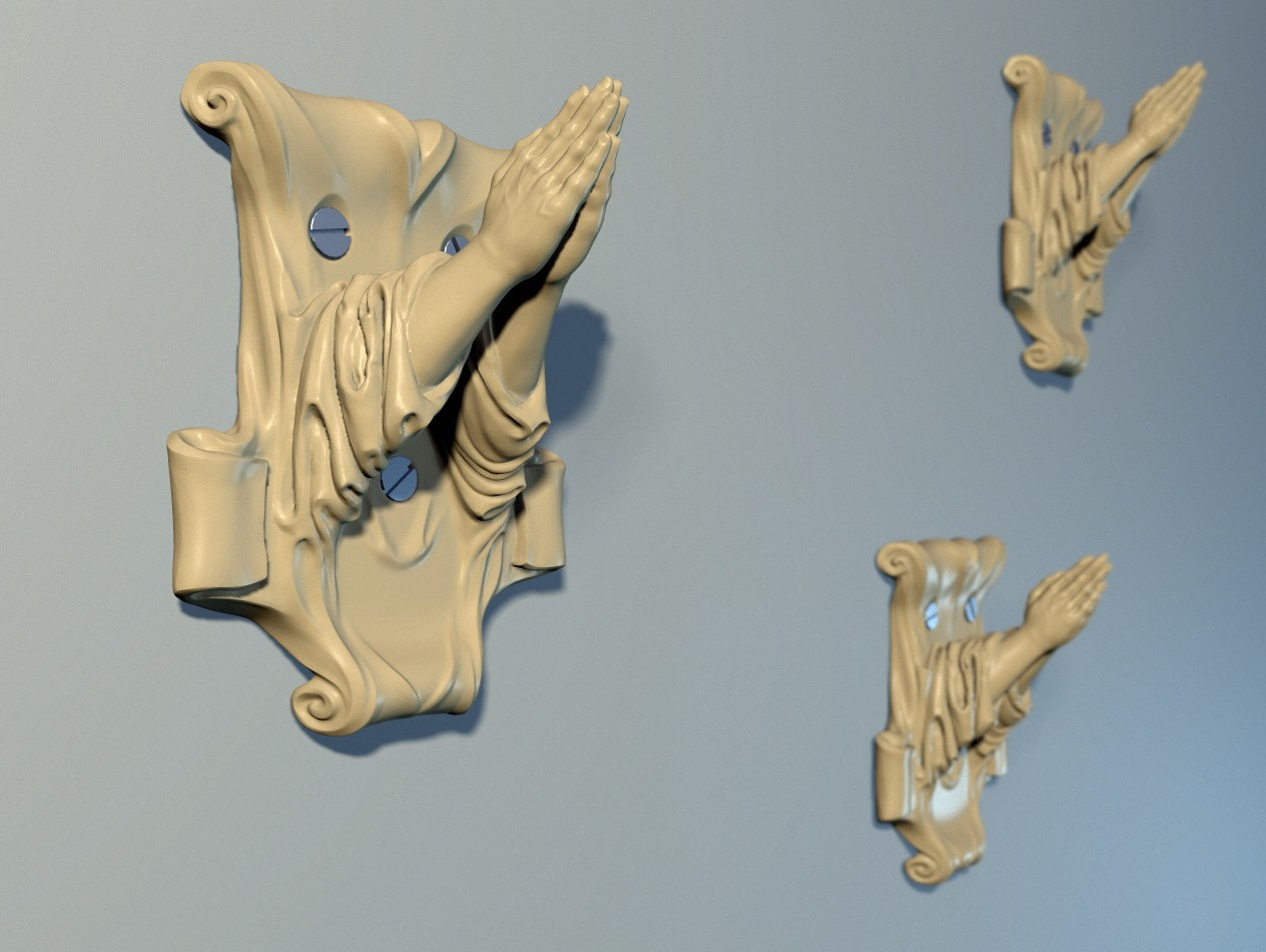 "Hanger_01.jpg Download OBJ file Hanger ""Prayer"" • Model to 3D print, Mendeleyev"