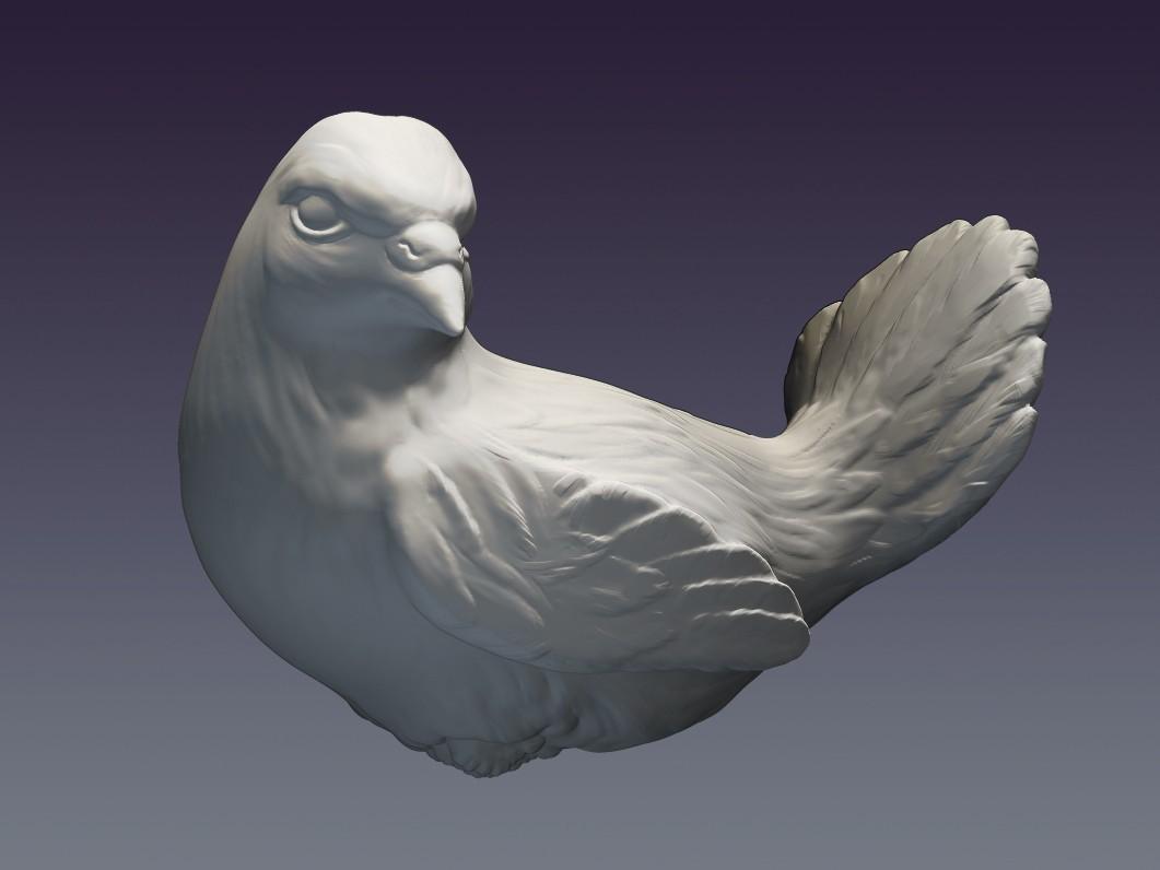 Pigeon_01.jpg Download OBJ file Decorative dove • 3D printing template, Mendeleyev