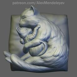 Cat_01.jpg Télécharger fichier OBJ Maman chat • Plan imprimable en 3D, Mendeleyev