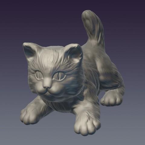 Cat_01.jpg Download OBJ file Decorative cat 3D print model • 3D print object, Mendeleyev