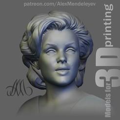Marilyn_face.jpg Download STL file Marilyn Monroe • 3D printable design, Mendeleyev