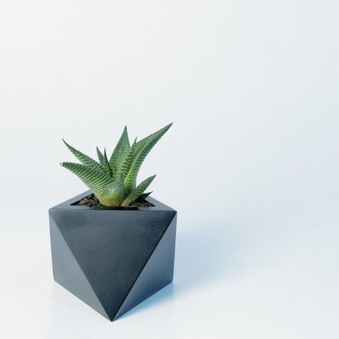 Download 3D printer templates Octaedro planter, atelierro