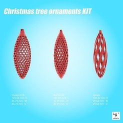Free stl file Christmas tree ornaments KIT, atelierro