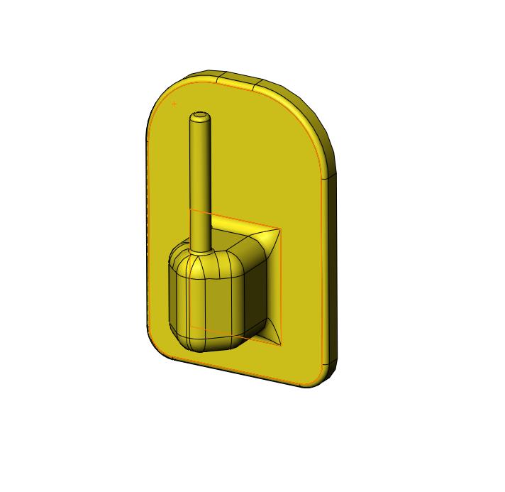 porte_tige_rideau_capture.PNG Download STL file Curtain rod holder • 3D printable template, jjwil