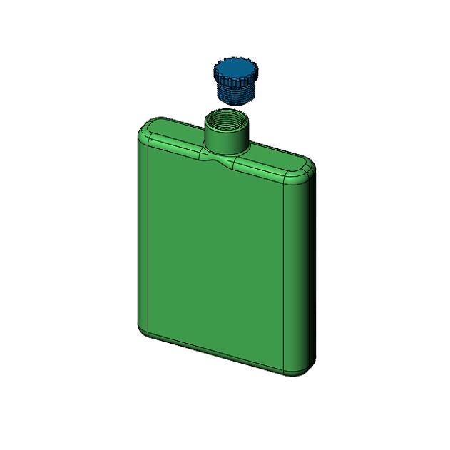 Capture.PNG Download STL file single flange • 3D print object, jjwil