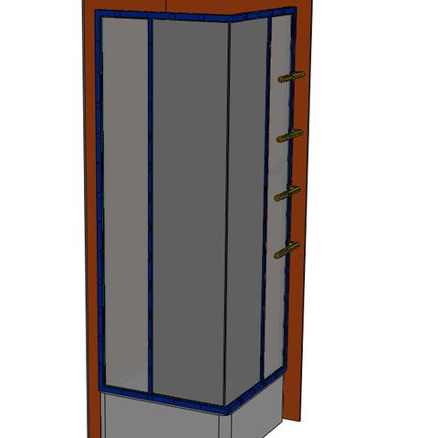 Capture_2.PNG Download STL file Bathroom - Shower • Design to 3D print, jjwil
