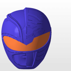 Download 3D printing designs power rangers mmpr green and white ranger mix helmet stl file, nellyscosplayandprops
