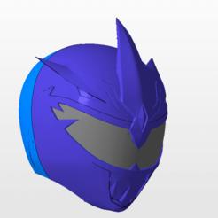 Imprimir en 3D power rangers mmpr lord drakkkon v2 ranger casco stl file, nellyscosplayandprops