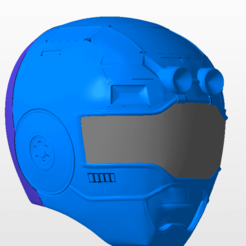 Download 3D printing files power rangers turbo blue ranger helmet stl file, nellyscosplayandprops